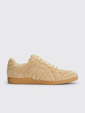 Maison Margiela Replica Low Top Fleece Sneakers Brown