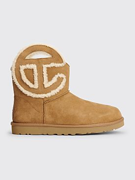 Telfar x UGG Logo Mini Boots Chestnut