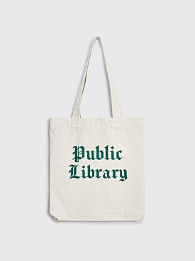 Foreign Currency Public Library Tote Bag Natural