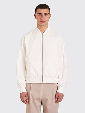 Margaret Howell x Fred Perry Tennis Bomber Jacket White