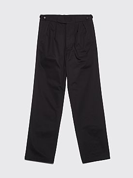 Margaret Howell x Fred Perry Pleated Cotton Pants Black