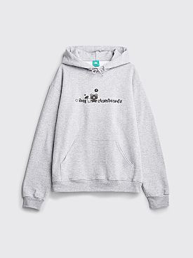 Frog Logo Hooded Sweatshirt Heather Grey