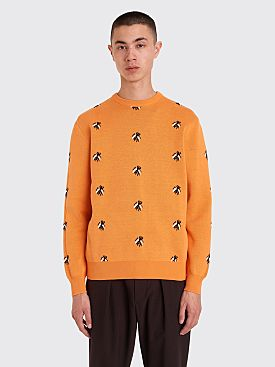 Fucking Awesome Flies Knitted Sweater Orange