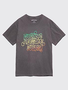 Fucking Awesome FA Sucks T-shirt Overdyed Black