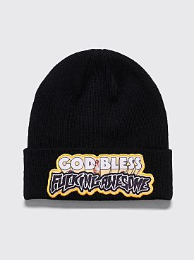 Fucking Awesome God Bless FA Beanie Black