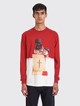 Fucking Awesome Prey Bleach Dip Dyed LS T-shirt Scarlet Red