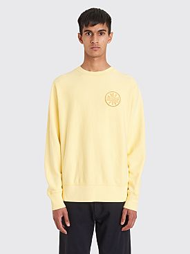 Fucking Awesome Spiral French Terry Crew Neck Sweatshirt Light Yellow