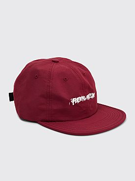 Fucking Awesome Stamp 6-panel Snapback Cap Maroon