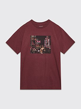 Fucking Awesome Neon Nights T-shirt Maroon