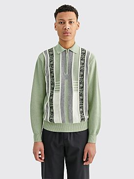 Fucking Awesome Knit Polo Sweater Teal