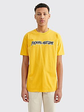 Fucking Awesome Puff Outline Logo T-shirt Gold