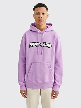 Fucking Awesome Garment Dyed Chenille Logo Hoodie Violet