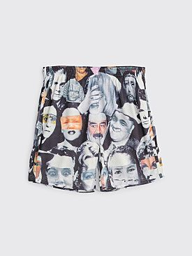 Fucking Awesome Jersey Mesh Shorts Face Collage Black