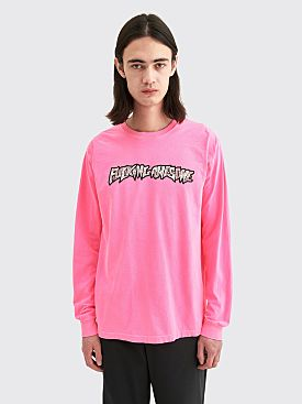 Fucking Awesome Actual Visual Guidance LS T-shirt Neon Pink