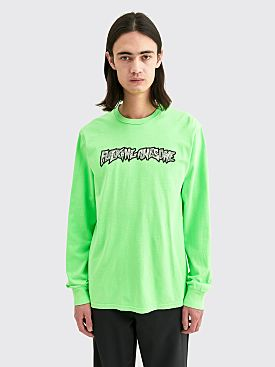 Fucking Awesome Actual Visual Guidance LS T-shirt Neon Green