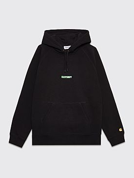 Gasius Sticker Batshit Cray Hooded Sweatshirt Black