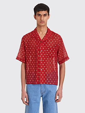 GmbH Luka Bowling Shirt With Embroidery Red / Gold