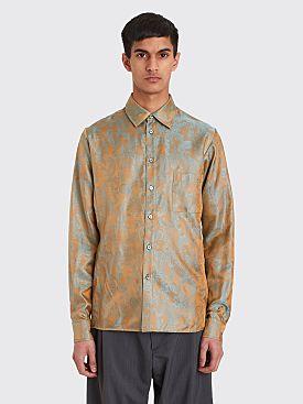GmbH Dieter Paisley Shirt Gold / Turquoise