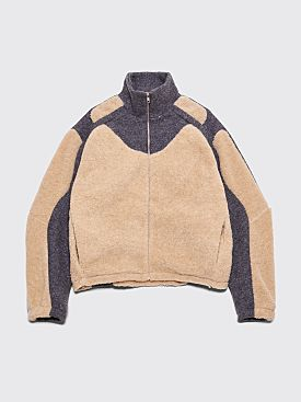 GmbH Ercan Two-Tone Fleece Jacket Beige / Grey