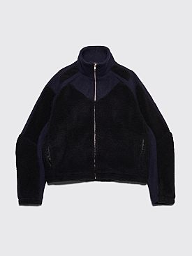 GmbH Ercan Two-Tone Fleece Jacket Navy / Black