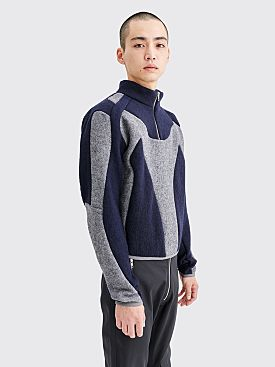 GmbH Atris Two-Tone Sweater Navy / Grey