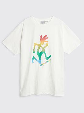 Book Works x Gramicci Running Man Rainbow T-shirt White