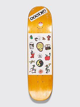 "GX1000 Joe Sticker 1A Skateboard Deck 8.125"" White"