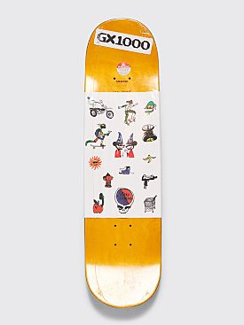 "GX1000 Joe Sticker 2A Skateboard Deck 8.25"" White"
