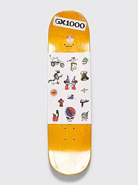 "GX1000 Joe Sticker 2A Skateboard Deck 8.25"" White"
