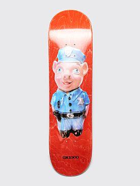"GX1000 Pig 2 Skateboard Deck 8.5"" Red"