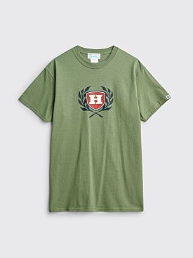 Hombre Niño Emblem Logo T-shirt Green