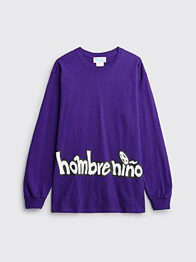 Hombre Niño 8 Ball LS T-shirt Purple