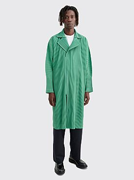 Homme Plissé Issey Miyake Pleated Coat Green