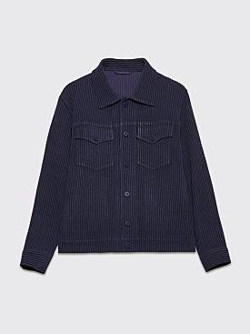 Homme Plissé Issey Miyake Pleated Jacket Indigo