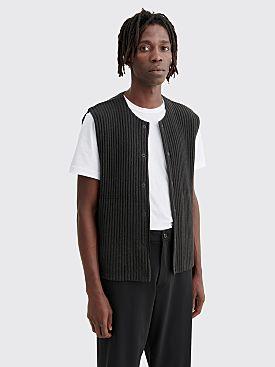Homme Plissé Issey Miyake Pleated Vest Black Brown