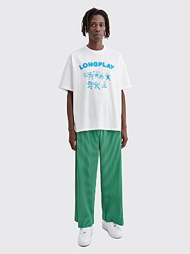Homme Plissé Issey Miyake Pleated Wide Pants Green