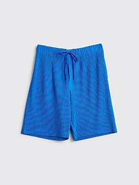 Homme Plissé Issey Miyake Pleated Shorts Blue