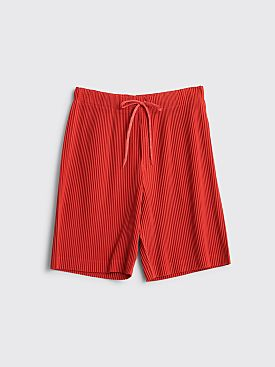 Homme Plissé Issey Miyake Pleated Shorts Red