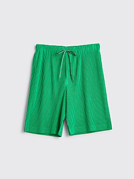 Homme Plissé Issey Miyake Pleated Shorts Green