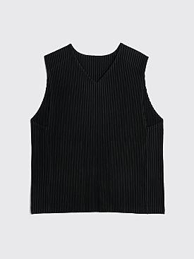 Homme Plissé Issey Miyake Pleated Vest Black