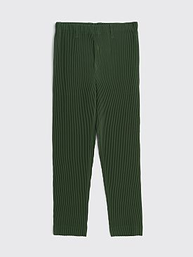 Homme Plissé Issey Miyake Tuxedo Pleated Pants Tapered Green