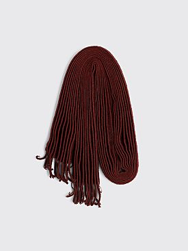 Homme Plissé Issey Miyake Pleated Wool Scarf Red
