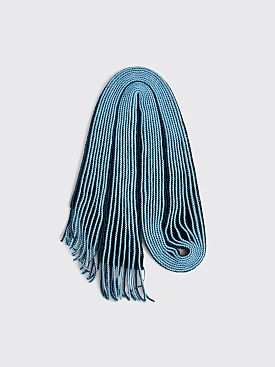Homme Plissé Issey Miyake Pleated Wool Scarf Blue