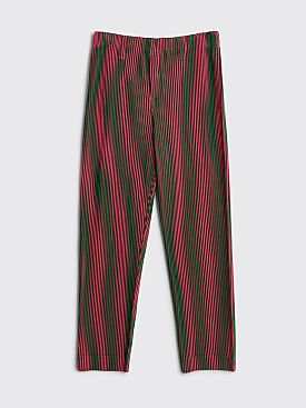 Homme Plissé Issey Miyake Pleated Pants Stripe Green / Pink