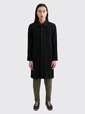 Homme Plissé Issey Miyake Pleated Coat Black
