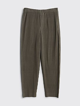 Homme Plissé Issey Miyake Pleated Pants Grey Olive