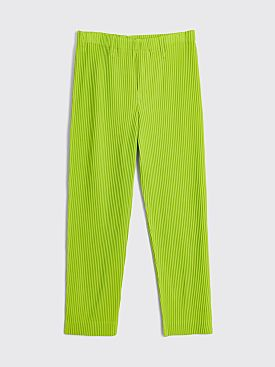 Homme Plissé Issey Miyake Pleated Tailored Pants Lime Green