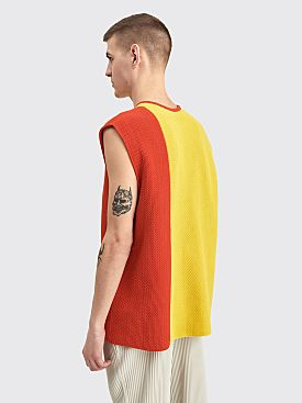 Homme Plissé Issey Miyake Knit Top Yellow / Orange