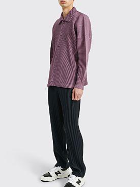 Homme Plissé Issey Miyake Pleated Mesh Jacket Purple