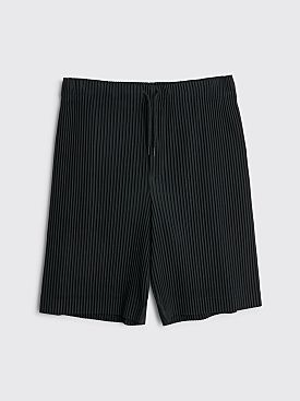 Homme Plissé Issey Miyake Pleated Drawstring Shorts Black